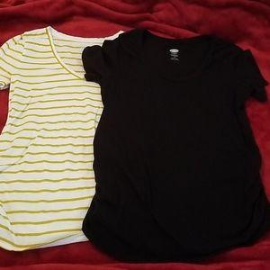 2 Old Navy maternity shirts
